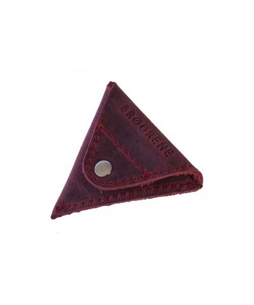 6435887c1feed portfel BRØDRENE Czerwona trójkątna bilonówka na monety CW01R