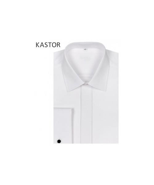 eb990ec6 koszula męska Kastor Biała koszula z mankietami na spinki