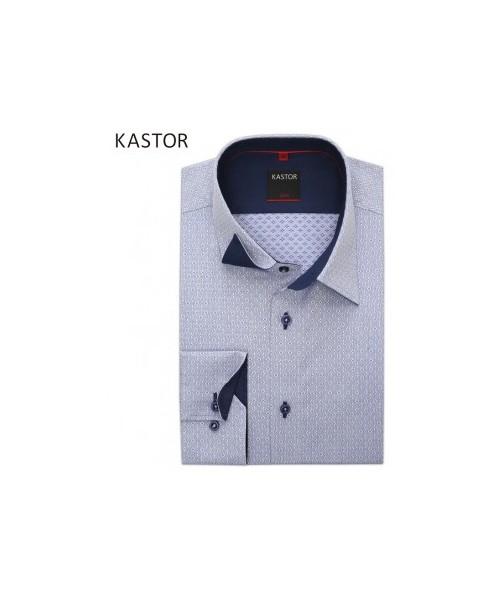 894d32a8f231bc Kastor Niebieska koszula z fakturowanej tkaniny, koszula męska ...