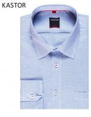 Koszula męska Koszula slim w drobny wzór - yoos.pl Kastor