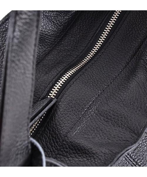 c0992675c74e2 Torebka skórzana Laza Duża torba ze skóry licowej a4 na ramię czarna