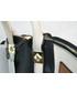Kuferek Colibra T0943 Torebka kuferek brąz-biel-czarny