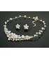 Komplet biżuterii Colibra Komplet naszyjnik kolczyki srebro kryształki kwiaty