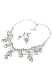 Komplet biżuterii Komplet naszyjnik kolczyki srebro kryształki - Missebo.pl Colibra
