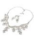 Komplet biżuterii Colibra Komplet naszyjnik kolczyki srebro kryształki