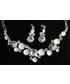 Komplet biżuterii Colibra Komplet naszyjnik kolczyki srebro kryształki koła