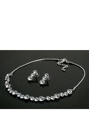 Komplet biżuterii Komplet naszyjnik kolczyki srebro kryształki koła - Missebo.pl Colibra