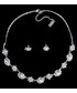 Komplet biżuterii Colibra Komplet naszyjnik kolczyki srebro kryształki kwiatki