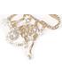 Broszka Colibra Broszka złoto agrafka z zawieszkami
