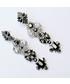 Kolczyki Colibra Kolczyki długie srebrno - czarne