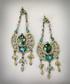 Kolczyki Colibra Kolczyki długie zielone kryształki