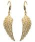 Kolczyki Colibra Kolczyki pozłacane wiszące skrzydła Swarovski - Pozłacany