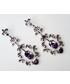 Kolczyki Colibra Kolczyki wiszące, fioletowe kryształki, srebrne