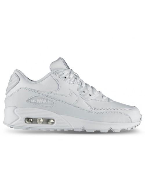 sneakersy męskie Nike Buty Air Max 90 Leather białe 302519 113