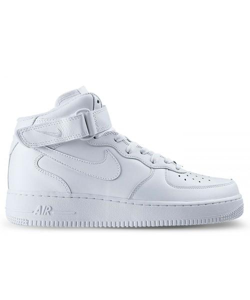 sneakersy męskie Nike Buty Air Force 1 Mid 07 białe 315123 111