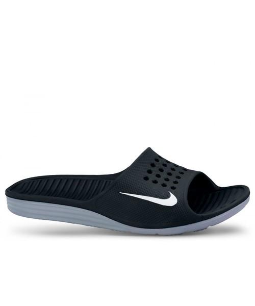 słodkie tanie rozmiar 40 świetna jakość klapki męskie Nike Klapki Solarsoft Slide czarne 386163-011