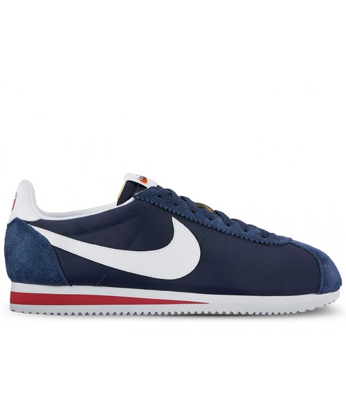 sneakersy męskie Nike Buty Classic Cortez Nylon Premium niebieskie 876873 400