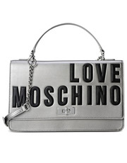 Torebka Silver Moschino purse with logo - motiveandmore.pl Motive & More