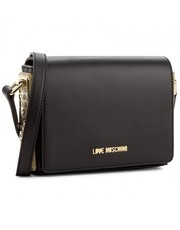 Listonoszka Black Moschino bag with gold side - motiveandmore.pl Motive & More