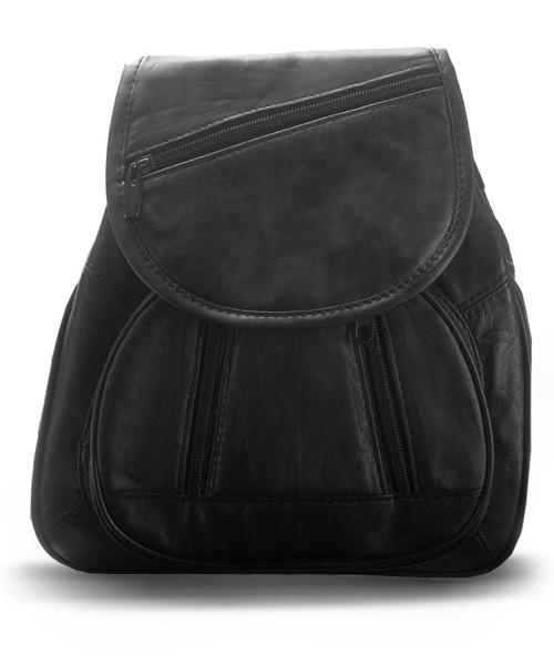 1cdbadc1e14d5 torebka Abruzzo Miękki elegancki plecak damski z naturalnej skóry cielęcej