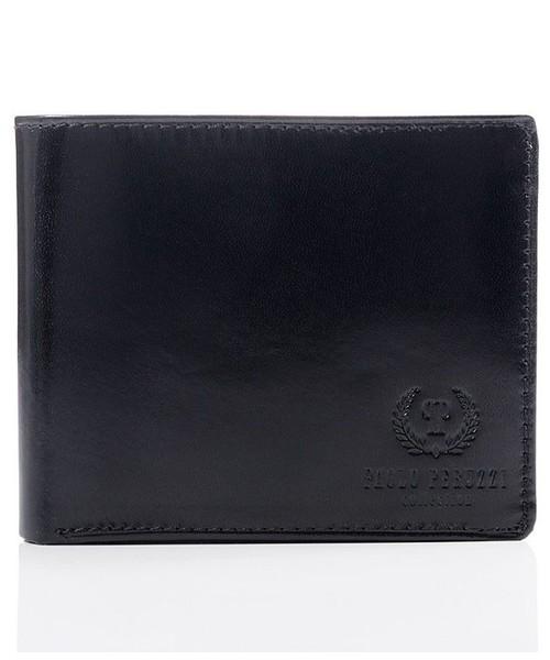 3ec00bb1de36d portfel Paolo Peruzzi Ekskluzywny portfel męski z naturalnej skóry czarny