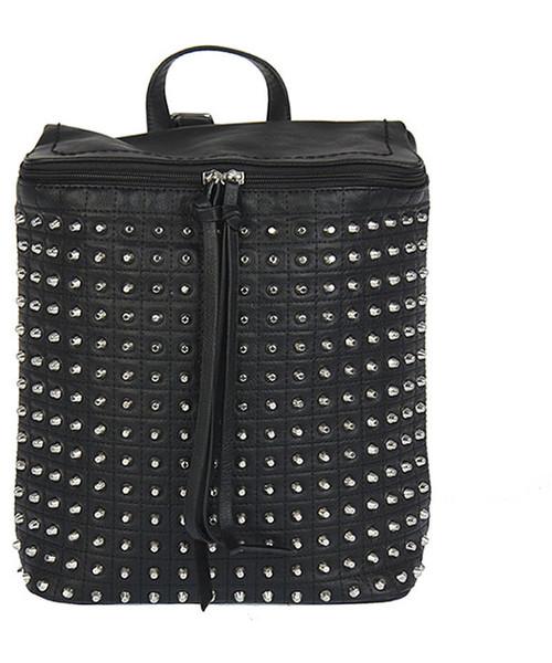 0bf1fa145f681 torebka David Jones Czarny plecak damski z nitami