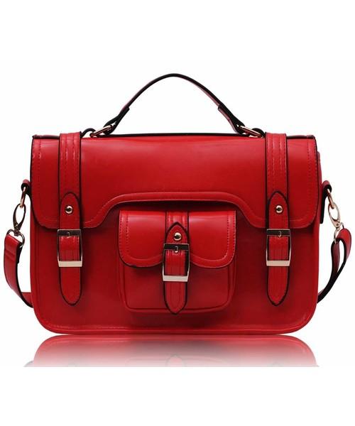 bdfa8691b2af4 listonoszka EVANGARDA Czerwona torebka listonoszka teczka damska