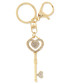 Brelok EVANGARDA Złoty breloczek - kluczyk z kryształkami