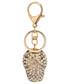 Brelok EVANGARDA Złoty breloczek - czapeczka z daszkiem z kryształkami