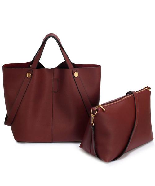 87e1ce06458ed Torebka EVANGARDA Shopper bag torebka damska w kolorze burgundu