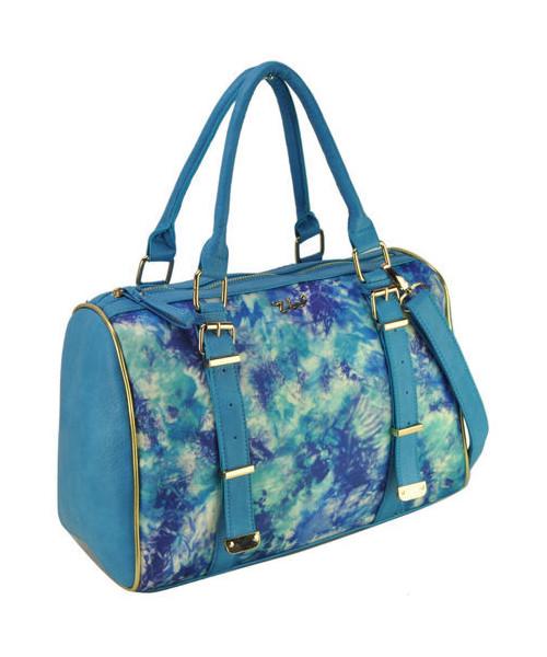 197e8bef71a93 torebka EVANGARDA Niebieska torba damska z kolorowym nadrukiem BLUE