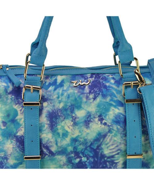 15dbb5d2563dd Torebka EVANGARDA Niebieska torba damska z kolorowym nadrukiem BLUE