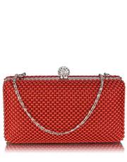 ae75846aa36d9 EVANGARDA Zachwycająca czerwona torebka wizytowa z koralików ...