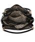 Torebka EVANGARDA Czarna lakierowana torebka damska skóra węża