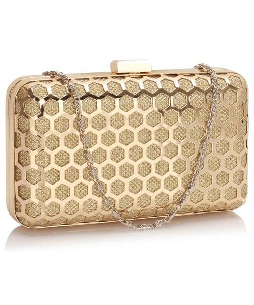 b7f543aceb88b kopertówka EVANGARDA Ekskluzywna złota torebka wieczorowa szkatułka
