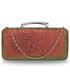 Kopertówka EVANGARDA Mieniąca brokatowa torebka wizytowa rudy z zielenią