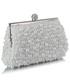 Torebka EVANGARDA Biała torebka wizytowa z koralików