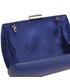 Torebka EVANGARDA Gładka torebka wizytowa szkatułka ciemny kobalt