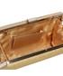 Kopertówka EVANGARDA Brokatowa torebka wizytowa kopertówka złota