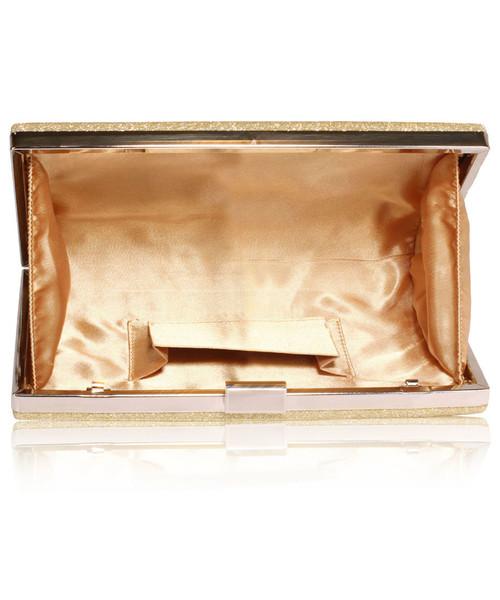 9fc2137cce2e3 Kopertówka EVANGARDA Brokatowa torebka wizytowa kopertówka złota