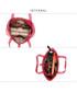 Torebka EVANGARDA Różowa lakierowana torebka na ramię skóra krokodyla
