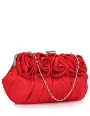 e74daf15300c2 Torebka Czerwona torebka wizytowa z ozdobnymi różami - Evangarda.pl  EVANGARDA