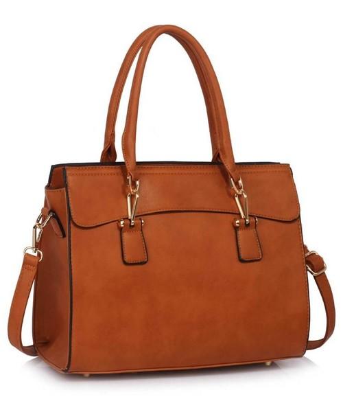 727525dab860c torebka EVANGARDA Jasnobrązowa torebka damska w stylu klasycznym