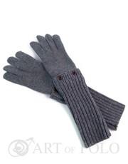Rękawiczki Szare uniwersalne rękawiczki 3 w 1 długie, krótkie, mitenki - Evangarda.pl EVANGARDA