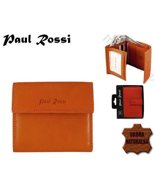 596cade2b1c13 portfel PAUL ROSSI Pomarańczowy portfel damski naturalna skóra