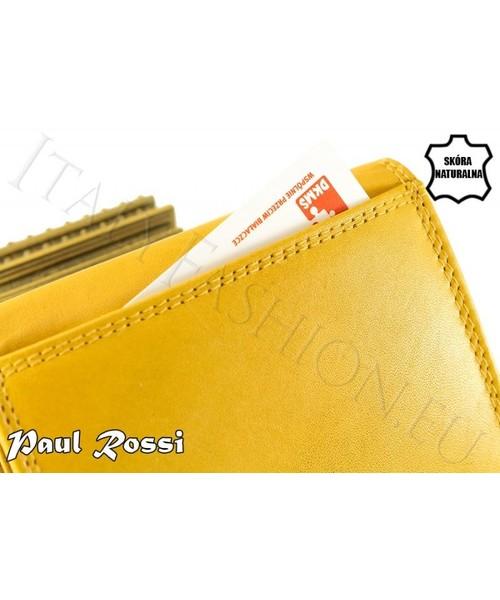 fed2039f4230d Portfel PAUL ROSSI Pomarańczowy portfel damski naturalna skóra