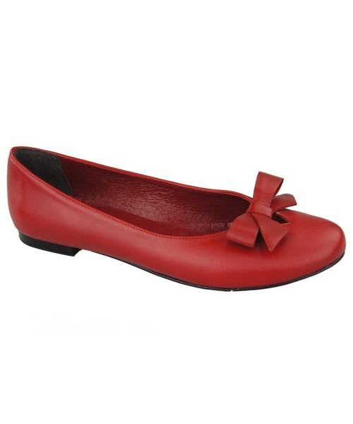 fb8dbbb10843f balerinki JankoBut Obuwie Baleriny Damskie Czerwone skóra naturalna 998  ElitaBut