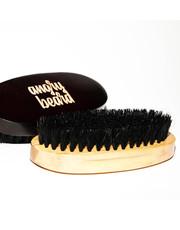 Kosmetyk do brody drewniana szczotka z włosia dzika do brody i wąsów - AmbasadaPiekna.com Angry Beard