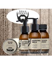 Kosmetyk do brody Zestaw brodacza mleczko+żel+szampon+balsam - AmbasadaPiekna.com Dear Beard