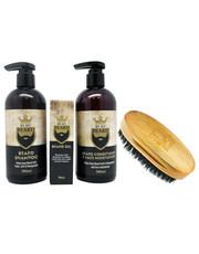 Kosmetyk do brody Zestaw do pielęgnacji brody szczotka+szampon+odżywka+olejek - AmbasadaPiekna.com By My Beard